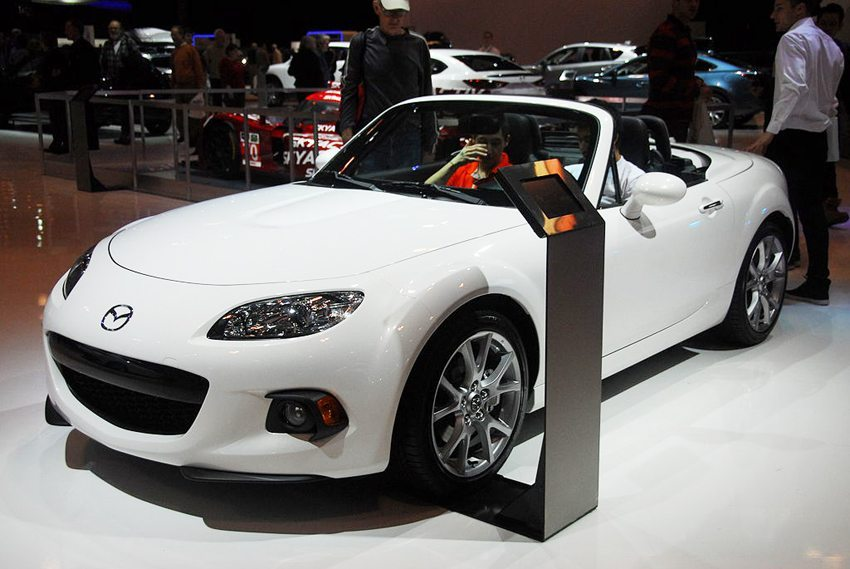 Der neue Mazda MX-5, ausgestellt auf Canadian International Auto Show 2014 (Bild: Lord of the Wings, Wikimedia, CC)
